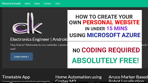 Free App To Design Your Own Home How To Create Your Own Website Using Microsoft Azure 2017 In