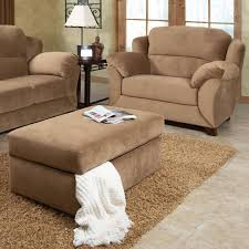 extra large chair with ottoman minimalist style living room brown microfiber oversized chair