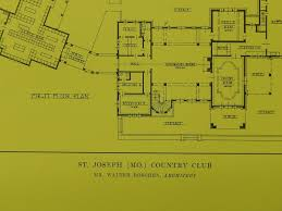 Country Club Floor Plans Country Club St Joseph Mo 1914 Lithograph Walter Boschen