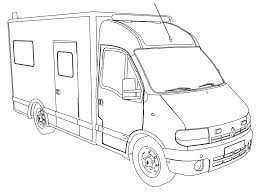 ambulance car coloring pages wecoloringpage
