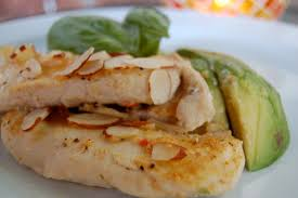 baked almond chicken breast with sliced avocado the perfect bite