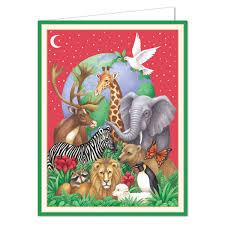 caspari cards caspari peaceable kingdom christmas boxed greeting cards paperstyle
