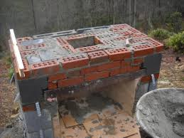 how to build an outdoor fireplace with cinder blocks small home