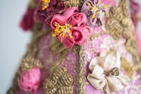 silk ribbon roses nightshades lshade with antique silk ribbon roses