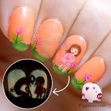 piggieluv thermal monster nail art for halloween