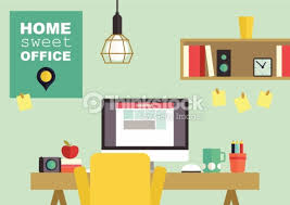 Home Interior Vector by Home Office Flat Interior Vector Illustration Vector Art Thinkstock