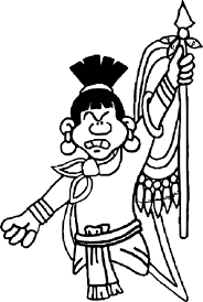 aztec angry human coloring page wecoloringpage