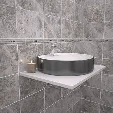 Travis Perkins Bathroom Tiles Wickes Light Cappuccino Marble Effect Border Tile 275 X 50mm
