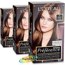 Light Brown Dye 3x Loreal Preference Palma 5 Natural Light Brown Permanent Hair