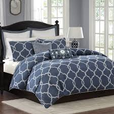 griffin denim blue duvet cover set home apparel