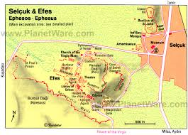 Topographic Map Of Russia U2022 by Selçuk And Efes Map Tourist Attractions Turkey Ephesus