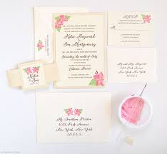 tropical flower wedding invitations mospens studio