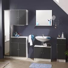 Petit Meuble Bas Salle De Bain petit meuble pour salle de bain gris barry 2