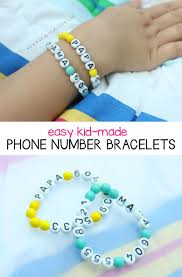 easy name bracelet images Easy kid made phone number bracelets phone number bracelet jpg