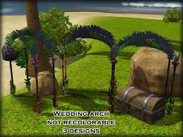wedding arches in sims 3 sims 3 updates onemoresim castaway outdoors set by blacksweety