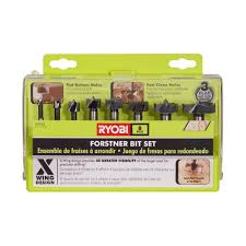 ryobi forstner bit set 8 piece a9fs8r1 the home depot