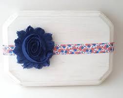 white and blue headband 4th of july headband etsy