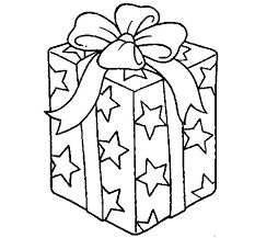 present wrapped starry paper coloring coloringcrew