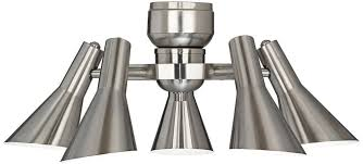 Retro Ceiling Fans by Retro Brushed Nickel Ceiling Fan Light Kit Amazon Com