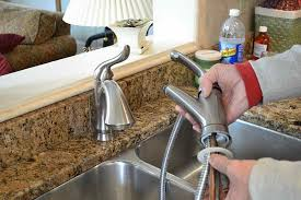 install kitchen faucet with sprayer how to replace a kitchen faucet murphy