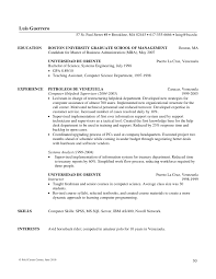 Mba Skills Resume Writing Mba Resumes