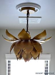 Lotus Pendant Light How To Turn A Recessed Light Into A Hardwired Light Desert Domicile