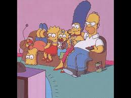 my free wallpapers cartoons wallpaper simpsons family watching tv