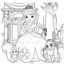 Coloring Pages Sofia The First Coloring Home Disney Junior Coloring Sheets And Activity Sheets
