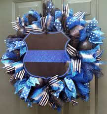126 best wreaths images on thin blue lines