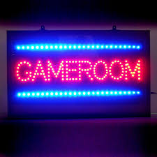 neonetics 5gamle gameroom led sign game room decor atg stores