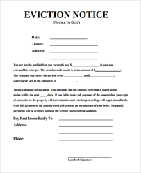 sample eviction notice 7 free documents in pdf