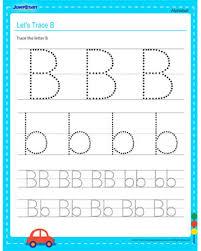 let u0027s trace b u2013 alphabet worksheets for kids online u2013 jumpstart