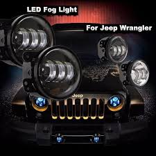 best road lights for jeep wrangler pair 4 inch osram led fog lights for jeep wrangler 1997 2015 jk tj
