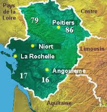 map of poitiers poitou charentes area guide and tourist attractions about
