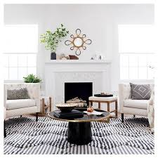 marlton round coffee table threshold round coffee table black gold nate berkus target