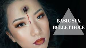 wound halloween makeup basic sfx infected bullet wound tutorial youtube