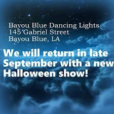 halloween house lights to music bayou blue dancing lights home facebook