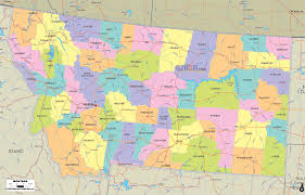 Montana Hunting Maps by Map Of Mt Map Of Montana And Montana Counties And Road Details