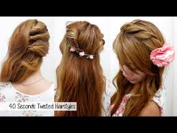 l hairstyles for long hair for 40 years old 40 seconds twisted hairstyles timed l quick cute easy back