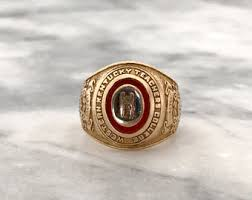 ohio state class ring vintage rings etsy
