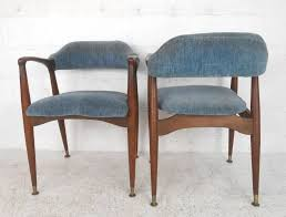 Midcentury Modern Dining Chairs Furniture Old Mid Century Dining Chair With Distressed Navy Blue