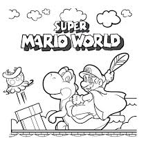 coloring pages mario peach super bros print kart party coloring