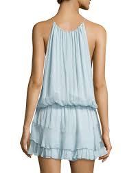 elizabeth and james kenji sleeveless mini dress dew