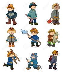 cartoon fireman icon royalty free cliparts vectors stock