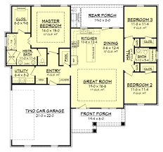 traditional craftsman house plans craftsman style house plan 3 beds 2 baths 1657 sq ft plan 430
