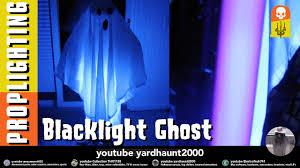 sheet ghost blacklight static halloween prop youtube