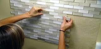 Installing Wall Tile Adhesive Wall Tiles Installing Tile Using An Adhesive Mat Self