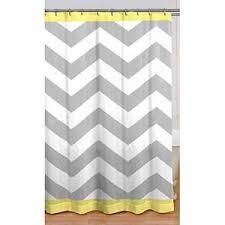 Yellow And White Shower Curtain Gray Yellow White Chevron Fabric Shower Curtain Home