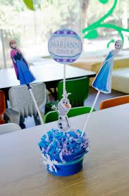 frozen themed party centrepiece centros de mesa de frozen frozen