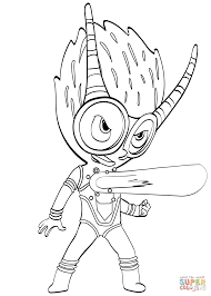 firefly villain from pj masks coloring page free printable